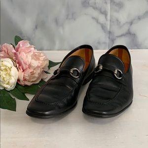 Magnanni Mens Black Leather Loafer Size 9.5